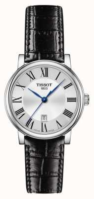 Tissot   Carson Classic   zwarte leren riem   zilveren wijzerplaat   T1222101603300