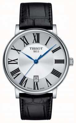Tissot | carson quartz | zwart leer | zilveren wijzerplaat | T1224101603300