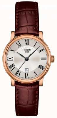 Tissot   Carson premium dame   bruine leren riem   T1222103603300