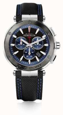 Michel Herbelin | heren | newport | blauwe en zwarte chronograaf | 37688/AG65