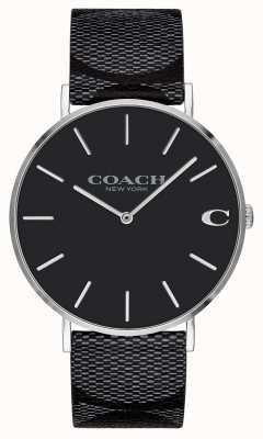 Coach | mens | handtekening | charles | zwart leer | 14602157