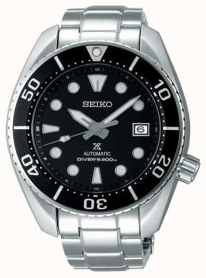 Seiko Heren prospex automatische sumo roestvrij stalen armband zwarte wijzerplaat SPB101J1