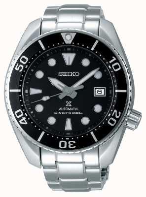 Seiko Prospex automatische sumo roestvrijstalen armband, zwarte wijzerplaat voor heren SPB101J1