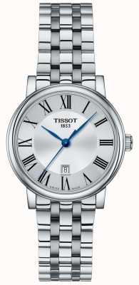 Tissot | auto's van vrouwen | roestvrijstalen armband | zilveren wijzerplaat | T1222101103300