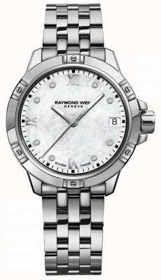 Raymond Weil | de tango van vrouwen | diamant-instelknop | roestvrijstalen armband 5960-ST-00995