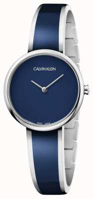 Calvin Klein   vrouwen verleiden   roestvrij staal blauwe harsarmband   K4E2N11N