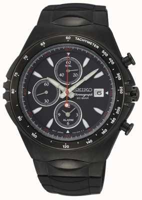 Seiko | conceptuele serie | zwarte ip-chronograaf sport horloge | SNAF87P1