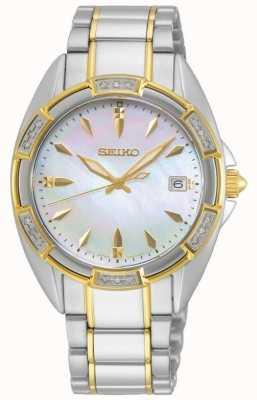 Seiko | conceptuele serie | vrouwen | tweekleurige gouden armband | SKK880P1