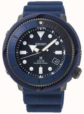 Seiko | prospex | straat serie | marineblauw siliconen | duiker | SNE533P1