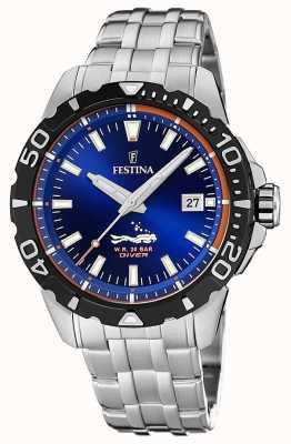Festina | duikers voor heren | roestvrij stalen armband | blauwe wijzerplaat | F20461/1