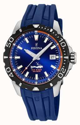 Festina | duikers voor heren | blauwe rubberen band | blauwe wijzerplaat | F20462/1