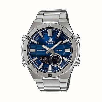 Casio | bouwwerk | mens | standaard chronograaf blauwe wijzerplaat | ERA-110D-2AVEF