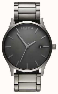 MVMT Klassieke zwart-witlink pvd vergulde armband | grijze wijzerplaat D-MM01-GR