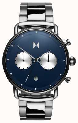 MVMT Blacktop astro blue | roestvrij staal | blauwe wijzerplaat D-BT01-BLUS