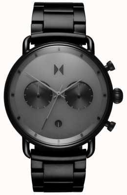 MVMT Blacktop starlight zwart | pvd armband | grijze wijzerplaat D-BT01-BB