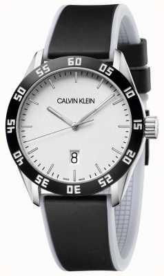 Calvin Klein | heren | concurreren | zwarte rubberen band | zilveren wijzerplaat | K9R31CD6