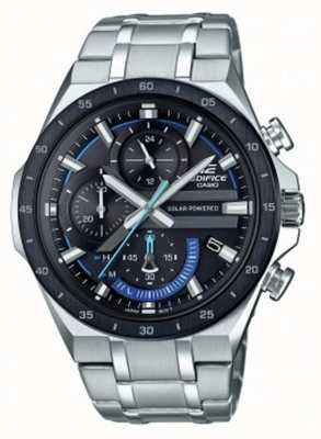 Casio | bouwwerk | zonne-energie chronograaf | zwarte en blauwe wijzerplaat | EQS-920DB-1BVUEF
