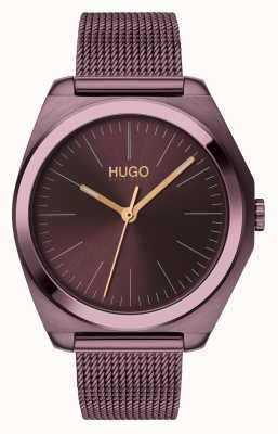 HUGO #imagine | aubergine ip mesh | aubergine wijzerplaat 1540027