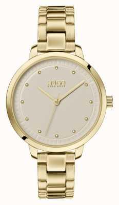 HUGO #achieve | gouden ip armband | champagne wijzerplaat 1540039