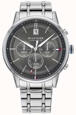 Tommy Hilfiger | heren roestvrij stalen armband | grijze wijzerplaat | chronograaf | 1791632