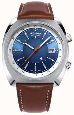 Alpina | startimer piloot erfgoed | automatisch | bruin leer | AL-555LNS4H6