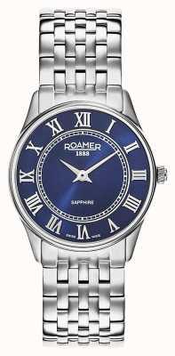 Roamer | sonate voor vrouwen | roestvrij stalen armband | blauwe wijzerplaat | 520820-41-45-50