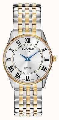 Roamer | vrouwen | sonate | tweekleurige armband | zilveren wijzerplaat | 520820 47 15 50