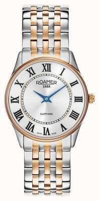Roamer | sonate voor dames | tweekleurig roestvrij staal | witte wijzerplaat | 520820 49 15 50