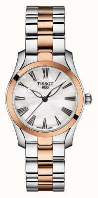 Tissot | t-wave | tweekleurige armband voor dames | parelmoer wijzerplaat | T1122102211301