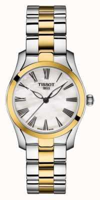 Tissot | t-wave | tweekleurige damesarmband | parelmoer wijzerplaat | T1122102211300