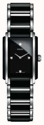 Rado Integraal diamanten high-tech keramisch horloge met vierkante wijzerplaat R20613712