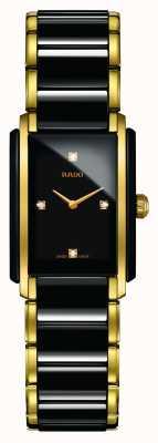 Rado Integraal diamanten high-tech keramisch horloge met vierkante wijzerplaat R20845712