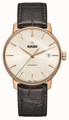 Rado Klassiek automatisch horloge met bruine lederen band, Coupole R22861115