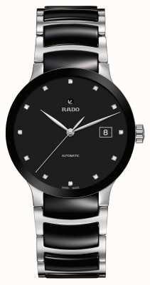 Rado Centrix automatisch diamanten zwart keramisch horloge R30941752