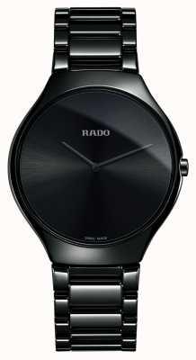 RADO Echte dunne hightech keramische zwarte wijzerplaat R27741182