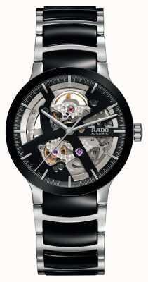 Rado Centrix open hart automatisch zwart keramisch horloge R30178152