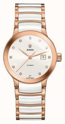 Rado | centrix automatische diamanten | hightech keramiek | wit R30183742