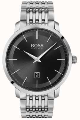 BOSS | premium klassieker voor heren | roestvrij staal | zwarte wijzerplaat | 1513746