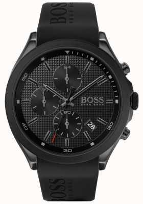 Boss | mannen snelheid | zwarte rubberen band | zwarte wijzerplaat | 1513720
