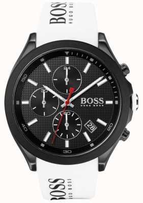 Boss | mannen snelheid | witte rubberen band | zwarte wijzerplaat | 1513718