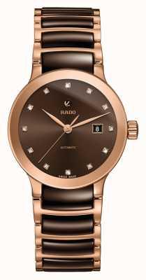 Rado | centrix diamanten automatisch | hightech keramiek | bruin R30183752