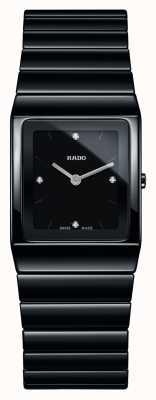 Rado Ceramica diamanten vierkante wijzerplaat zwarte keramische armband horloge R21702702