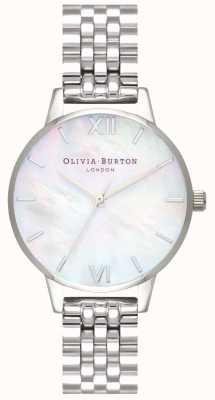 Olivia Burton vrouwen | parelmoer wijzerplaat | roestvrijstalen armband | OB16MOP02