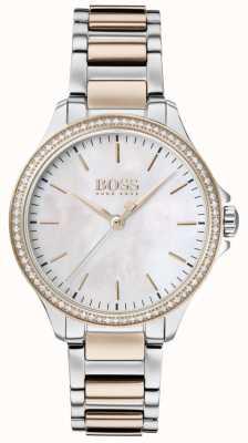 Boss | diamanten voor haar | tweekleurige armband | parelmoer 1502524