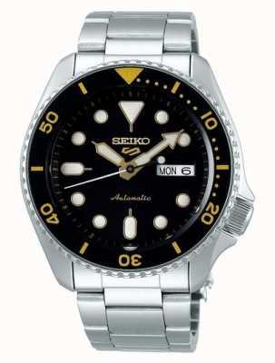 Seiko 5 sport | sport | automatisch | zwarte en gele wijzerplaat SRPD57K1