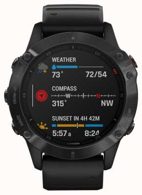 Garmin Fenix 6 pro | multisport smartwatch | zwarte rubberen band 010-02158-02