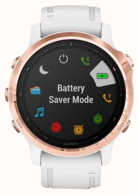 Garmin Fenix 6s pro | multisport smartwatch | rosé goud witte band 010-02159-11