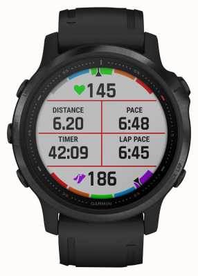 Garmin Fenix 6s pro | multisport smartwatch | zwarte rubberen band 010-02159-14