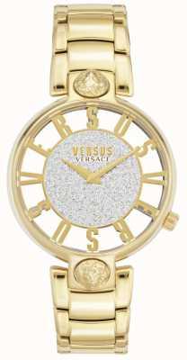 Versus Versace | dames kirstenhof | vergulde armband | glitter wijzerplaat VSP491419