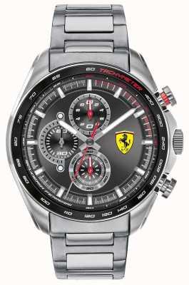 Scuderia Ferrari | heren speed-racer | roestvrij stalen armband | zwarte wijzerplaat 0830652